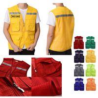 Work Utility Vest w/ Reflective Stripes