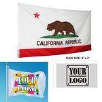 2' x 3' Single-Sided Polyester Flag