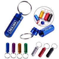 Metal Pill Box Keychain