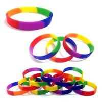 Blank Rainbow Silicone Bracelet