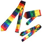 Custom Sublimation Rainbow Pride Neckties