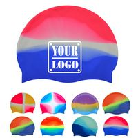 Multi-Color Silicone Swim Cap