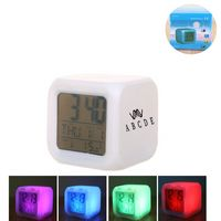 Square Digital Alarm Clock With Led Color