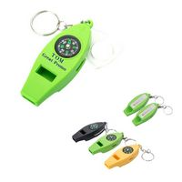 Multifunctional Whistle With Compass Thermometer Magnifier