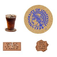 "4"" Round & Square Drink Cork Coasters Mats"