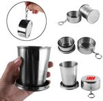 Portable Wine Glass Folding Cup With Key Chain