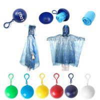 Disposable Raincoat With Ball Keychain