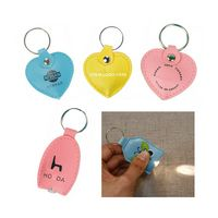 PU Leather LED Flashlight Keychain