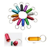 Aluminum Mini Portable Key Chain Medicine Bottle/Box