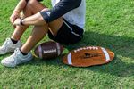 Fiber Reactive Football Shaped Sport Towel (Screen Print)