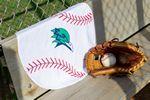 Fiber Reactive Baseball Shaped Sport Towel (Screen Print)