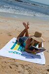 Custom Platinum Collection White Beach Towel (Screen Print)