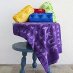 Custom Jewel Collection Colored Beach Towel (Screen Print)
