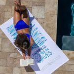 Custom Jewel Collection White Beach Towel (Screen Print)