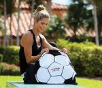 Fiber Reactive Soccer Ball Shaped Sport Towel (Screen Print)