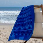 Custom Small Colored Beach Towel (Screen Print)
