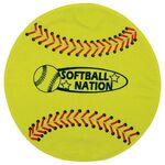 Fiber Reactive Softball Shaped Sport Towel (Screen Print)