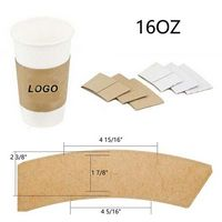 16OZ Kraft Paper coffee cup sleeves