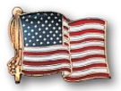 Custom Stock US American Flag Pin