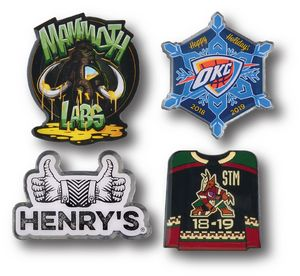 1/2 Overseas Photo Printed Lapel Pins