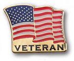 Custom Stock Veteran US Flag Lapel Pin