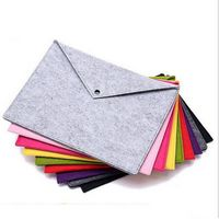 Portable Felt Holder Documents Folders Briefcase Bag with Snap Closure