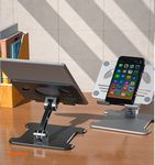 Custom Cell Phone Stand, Adjustable Angle Height Desk Phone Dock Holder for Phone and Pad