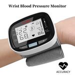 Custom Blood Pressure Monitor Accurate Automatic LCD Display Adjustable Wrist Cuff Heart Rate Detector