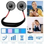 Rechargeable USB Hanging Neck Fan For Reading or Sports Gen1