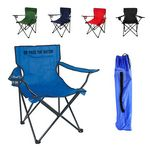 Custom Collapsible Beach Armchair with Carrying Bag