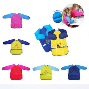 Children Waterproof Long Sleeve Painting Bid Apron Smock