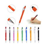 Custom Incline Soft Touch Stylus Metal Pen - Laser Engraved