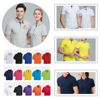 Summer Breathable Sport Polo With Short Sleeve