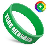 1 Inch Ultra Wide Silicone Wristband