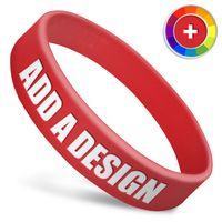 3/4 Inch Wide Silicone Wristband