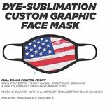 Custom Sublimated Fabric Face Mask-IN STOCK
