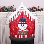 Snowman Chair Back Covers Xmas