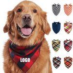 Lattice Bandana Pet Scarf For Pets MOQ 100
