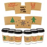 Full Color Printed Craft Paper Coffe Cup Sleeves