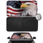 Custom UV Rays Foldable 210T Car Sun Shade with Pouch
