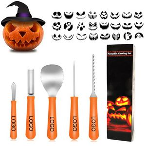 Custom 5 Piece Halloween Professional Pumpkin Carving Kit