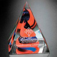 "Swirl Pyramid - Red/Blue 4"""