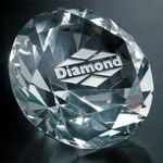 Custom Diamond Paperweight 3-1/4