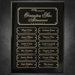 Custom Black Piano Finish Perpetual Plaque 9