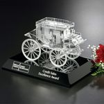 Custom Stagecoach Award on Black Base 4-1/2