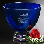 Custom Cobalt Pedestal Bowl 8-1/2