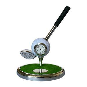 Golf Club Ballpoint Pen with Golf Ball Clock