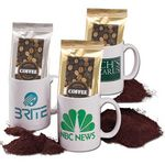 Custom Coffee Mug w/Coffee Pack