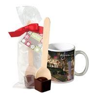 Full Color Mug w/Hot Cocoa Spoon
