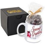 Custom Ceramic Mug Gift Set w/Dark Chocolate Espresso Beans